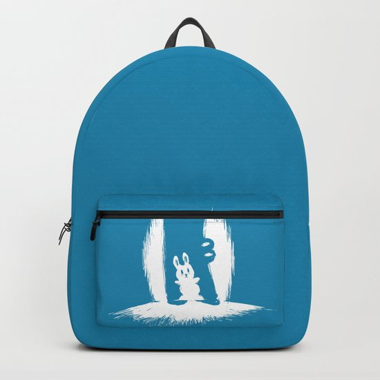 cornered! (bunny and crocodile) Backpack