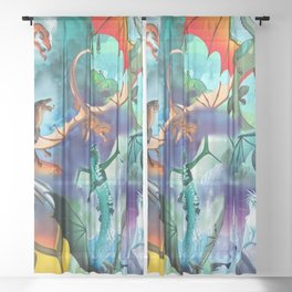 Wings-Of-Fire all dragon Sheer Curtain