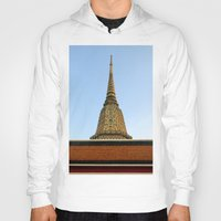 thailand Hoodies featuring temple in thailand by habish