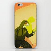 kermit iPhone & iPod Skins featuring kool kermit by Kingu Omega