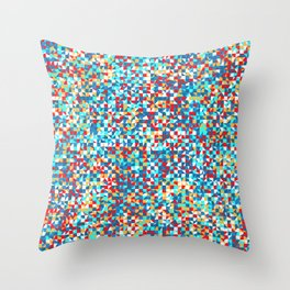 grid in red and blue Throw Pillow