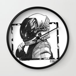 SpaceGirl Wall Clock