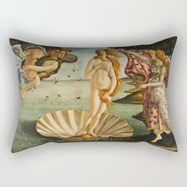 The Birth Of Venus Sandro Botticelli Painting Rectangular Pillow