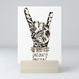 Heavy Metal Sign Text Rock Art Music Art Heavy Metal Hand Poster Home Decor Rock Music Painting Mini Art Print