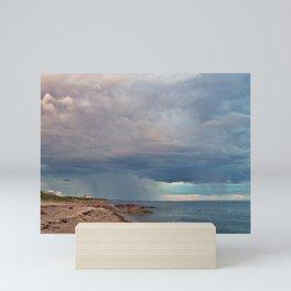 Rain Curtain on the Sea Mini Art Print