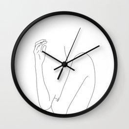 Figure line drawing illustration - Dorit Wall Clock