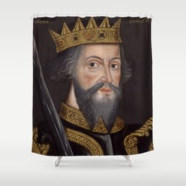 Vintage William The Conqueror Portrait Shower Curtain