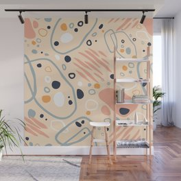 Ginie's dreams terrazzo floating stones Wall Mural
