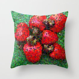 Pixelated Cashews Throw Pillow