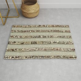 Bayeux Tapestry on cream - Full scenes and description Rug