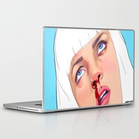 mia wallace Laptop & iPad Skins featuring Mia Wallace by Ale Caballero