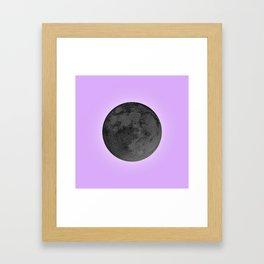 BLACK MOON + LAVENDER SKY Framed Art Print
