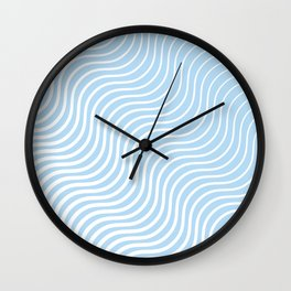Whiskers Light Blue & White #285 Wall Clock