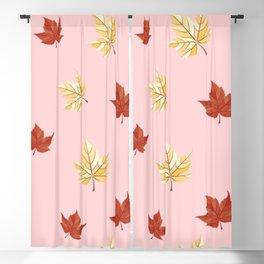 Autumn leaf pattern Blackout Curtain