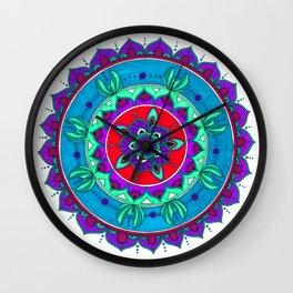 Little Mermaid Inspired Mandala Art Wall Clock