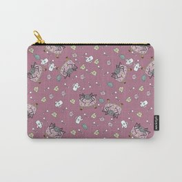 Teatime Spider - Pink Carry-All Pouch