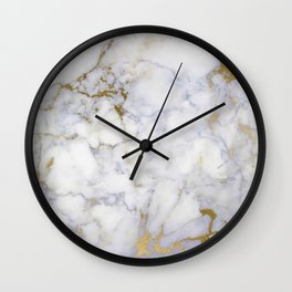 marble gold glitter holo Wall Clock