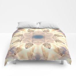 Mystical Petroglyphs Mandala Abstract Design Comforters