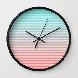 Beach Blanket - Aqua/Peach Wall Clock