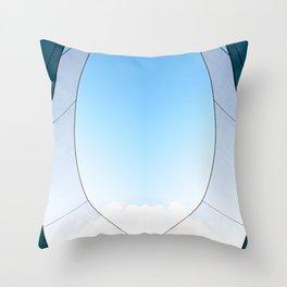 Abstract Sailcloth c3 Throw Pillow