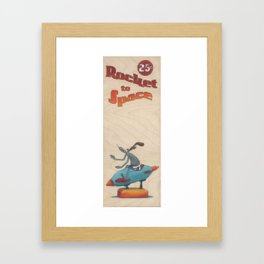 Rocket to Space No. 1 Framed Art Print