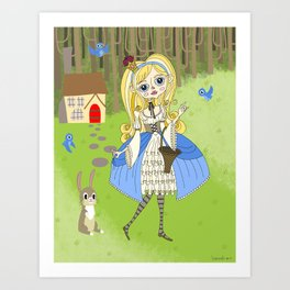 Lolita Princess Art Print