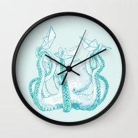 kraken Wall Clocks featuring Kraken by Badaro