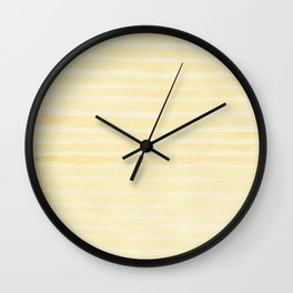 SAFFRON'S STRIPES Wall Clock
