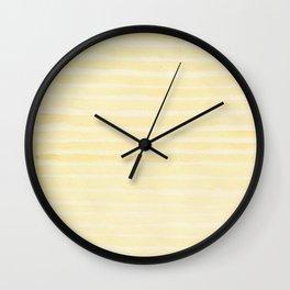 SAFFRON'S STRIPES Wall Clock