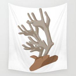 Deer bending with Antlers in brown Wall Tapestry