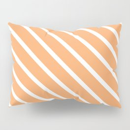 Creamsicle Diagonal Stripes Pillow Sham