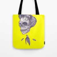 johnny cash Tote Bags featuring Johnny Cash by Christos Skouras