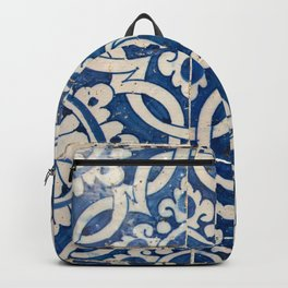 Vintage portuguese azulejo Backpack