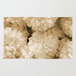 Monochrome Abstract Mums Rug