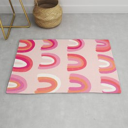 Rainbow Paint Rolls – Pink Rug