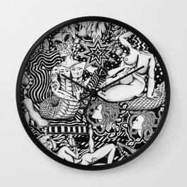 Psychedelic Visions of the Bisexual Shaman Chicks Wall Clock