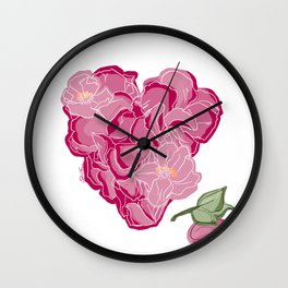 Heart of flowers Wall Clock