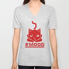 #MOOD Cat Red Unisex V-Neck