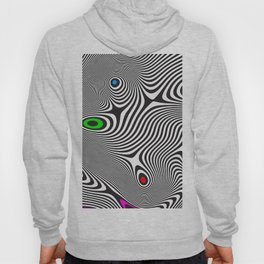 Black wavy lines color accents Hoody