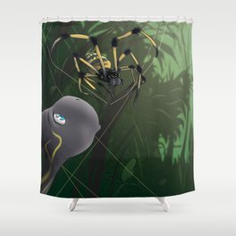 Turtle And Spider Shower Curtain