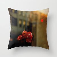 polka dots Throw Pillows featuring Polka Dots by Bella Blue Photography