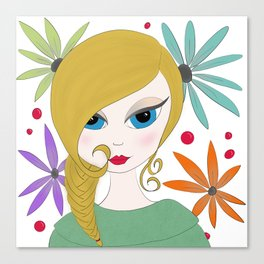 Layla by AshGrayDoll Canvas Print