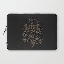 Love Coffee Laptop Sleeve