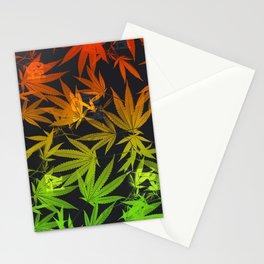 Leafy Rasta Royal Stain Stationery Cards