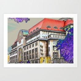 Shopping in Berlin Art Print