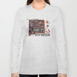 New Mexico map Long Sleeve T-shirt