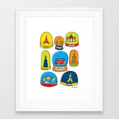 Snow Dome Collection Framed Art Print