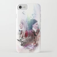 swan queen iPhone & iPod Cases featuring Swan Queen Magic by Slayerstime