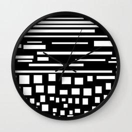 cuadrados y líneas Wall Clock