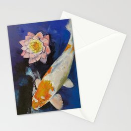 Gin Rin Koi and Water Lily Stationery Cards